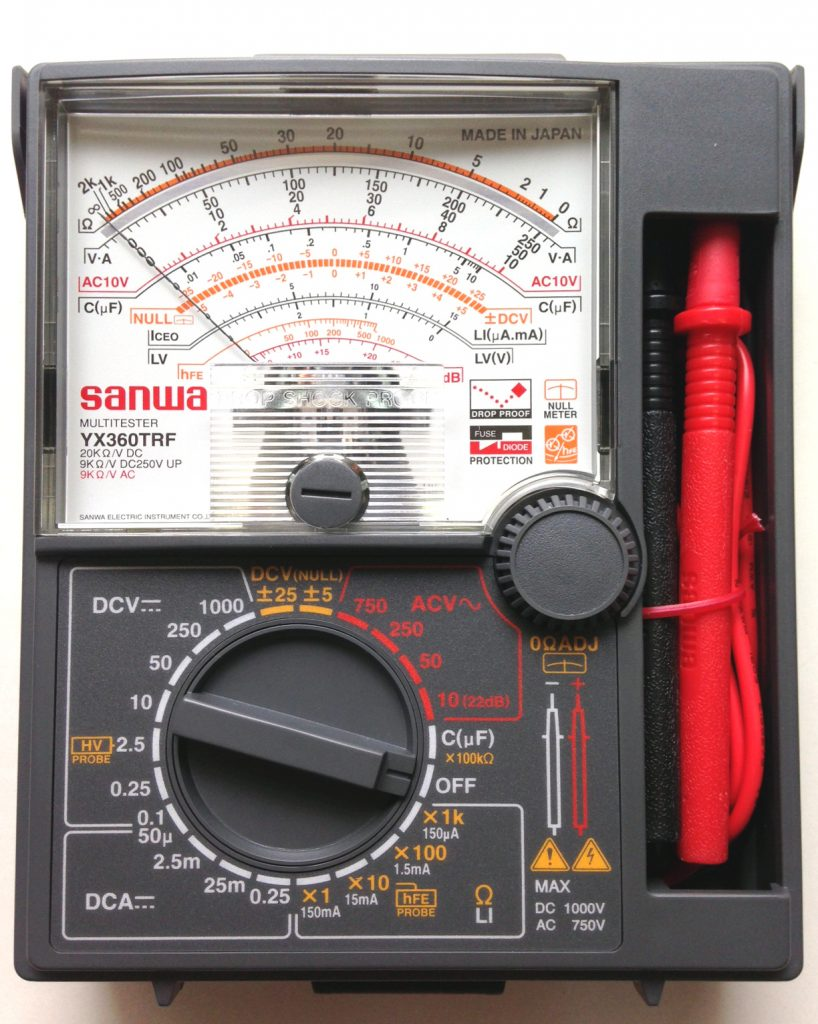 A multimeter is a necessary tool for testing 12-Volt battery