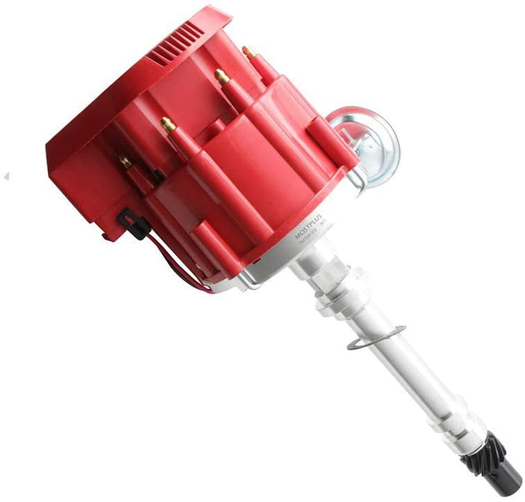MOSTPLUS Racing HEI Distributor Red Cap Super Coil is one of the best distributors for chevy 350