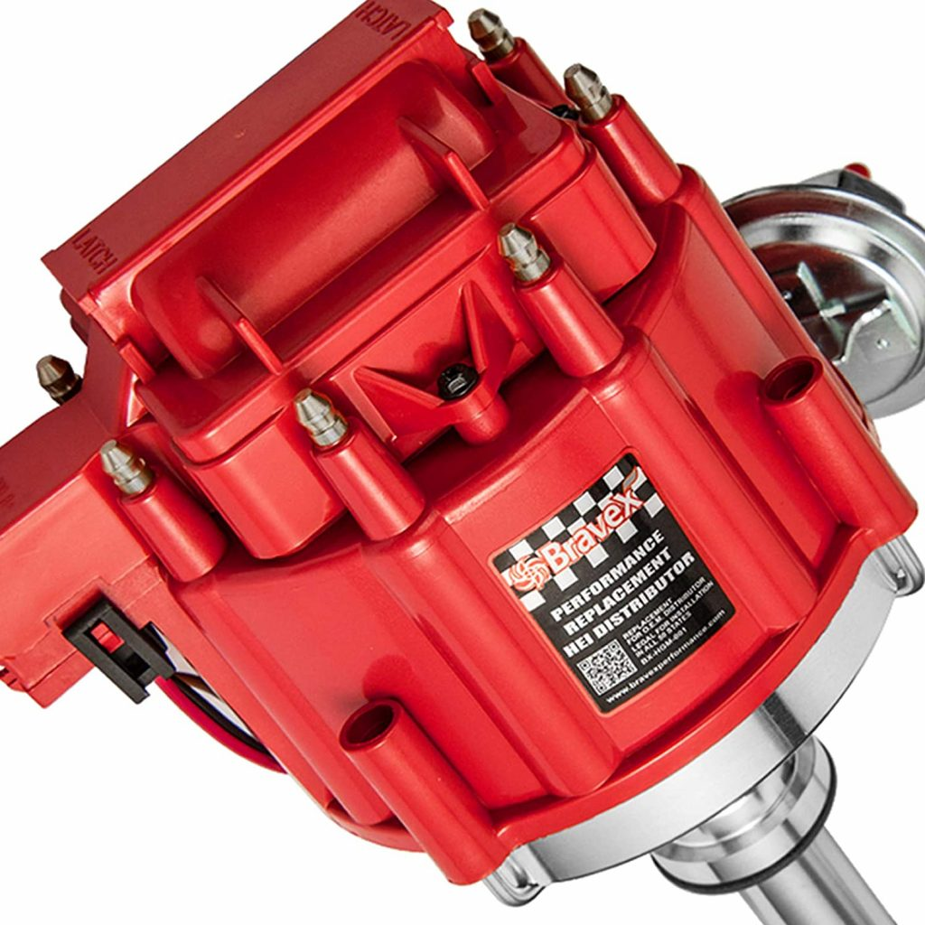 Bravex High Performance Red Cap HEI Distributor for Chevy 350